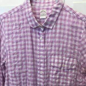 Jcrew gingham perfect shirt